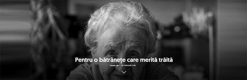 Pentru o bătrâneţe care merită trăită